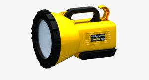 rechargeable industrial torch light 3D model