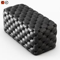 3D model pouf capitone