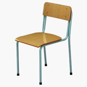 3D school chair