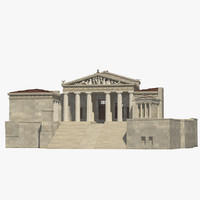 3D propylaea gateway entrance model