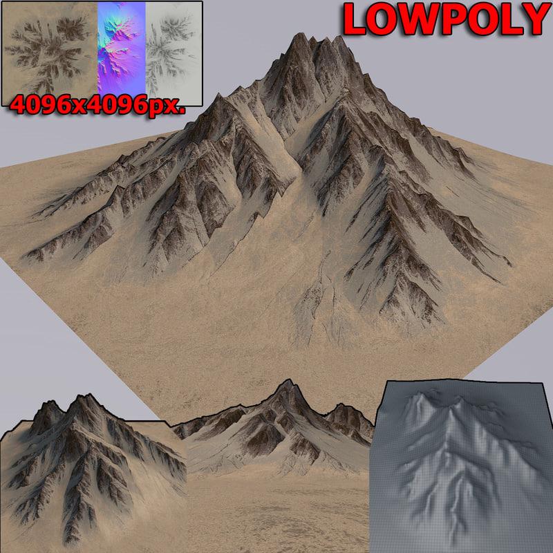 desert mountain 3D model