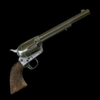 3D colt peacemaker revolver pbr