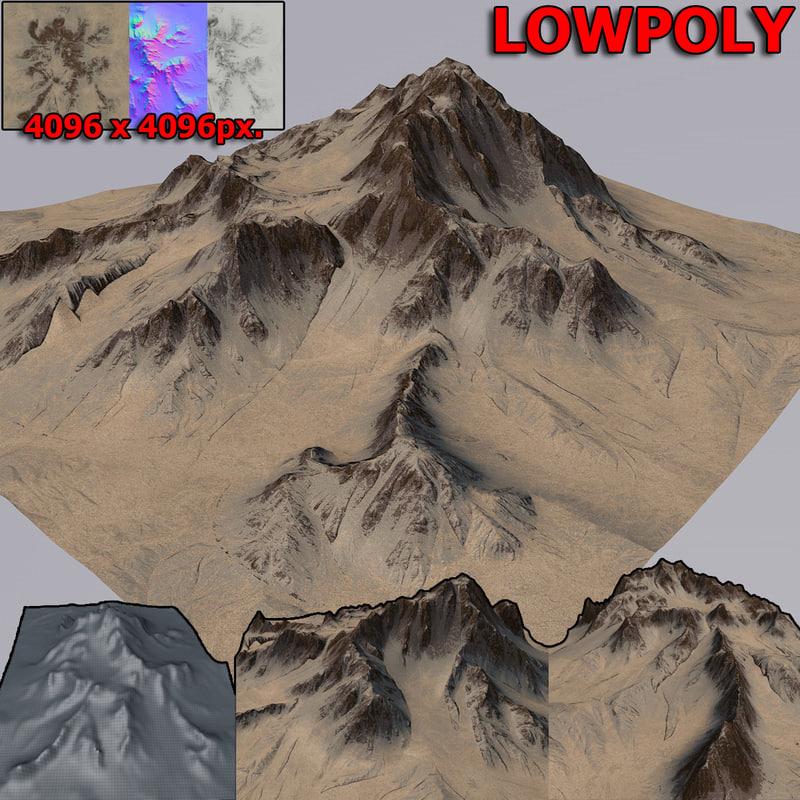 mountain terrain 3D model