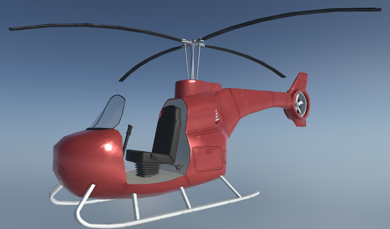 3D single-seat helicopter