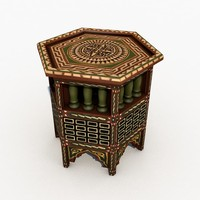 3D model arabic table