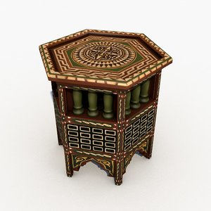 3D model arabic table