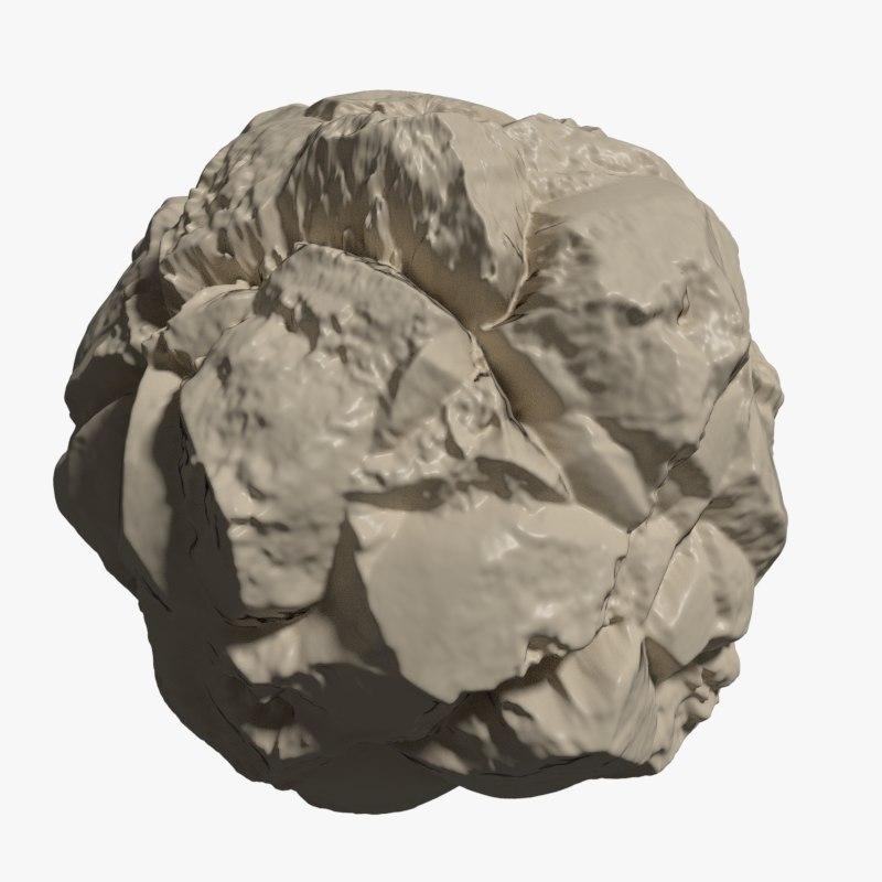 realistic rock 3D model