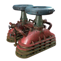3D industrial retro equipment abandonded model