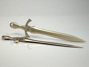 medieval used sword model