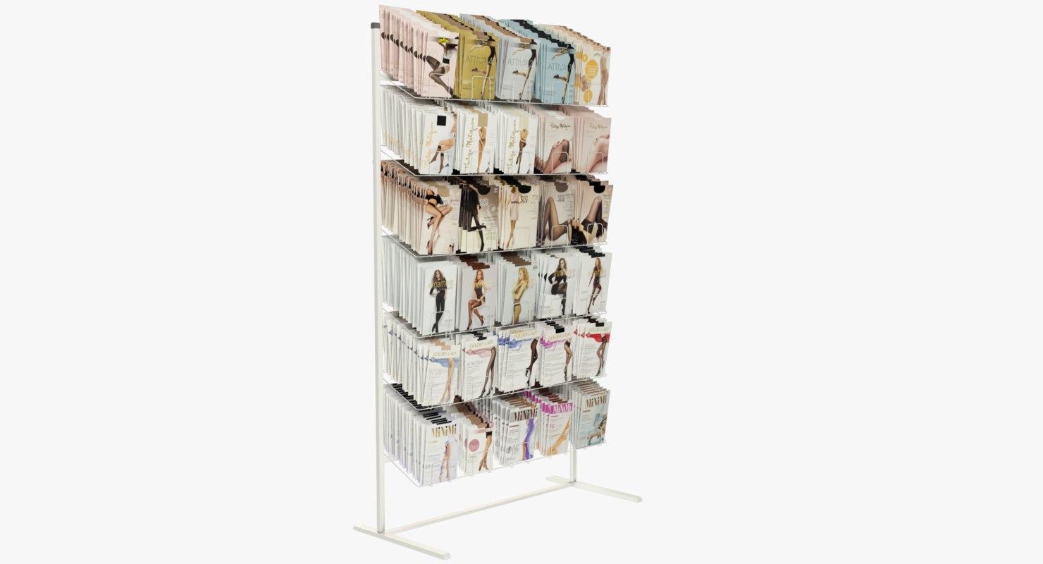 3D model pantyhose rack