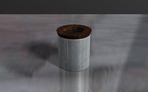 3D ceramic jar model