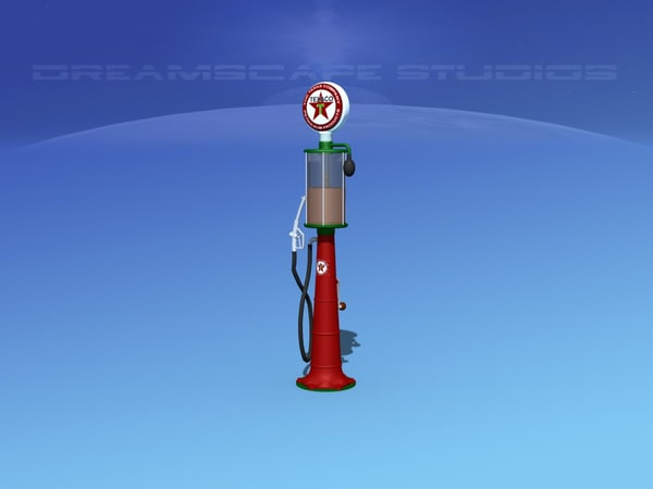 1920 era pumps gas 3D