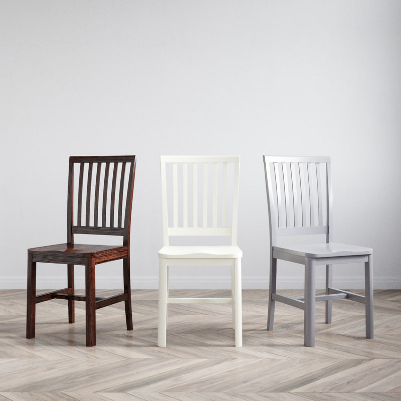 3D carolina stacionary chair model