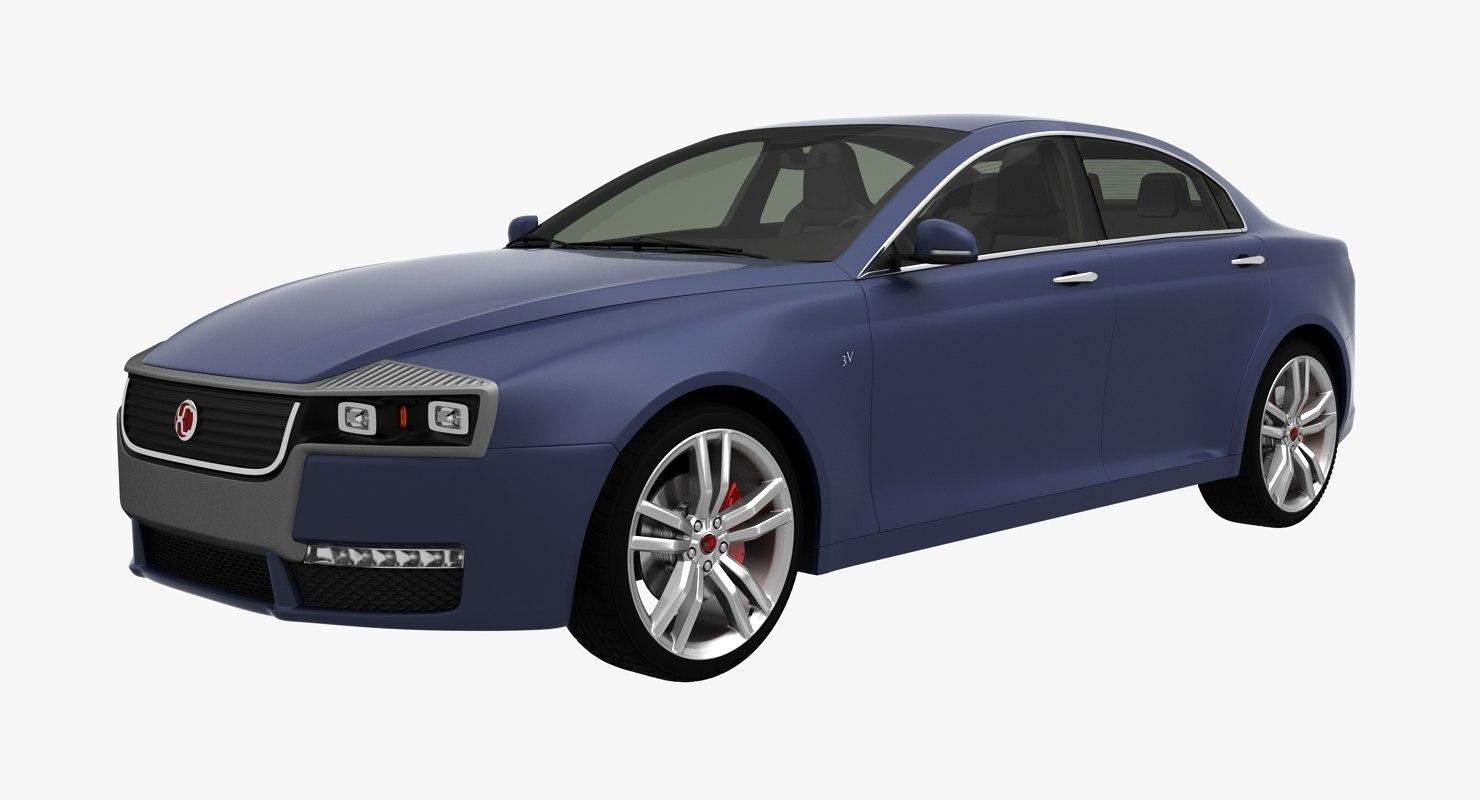 3D model generic sedan 3v