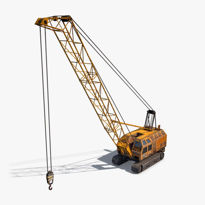 3D crawler crane