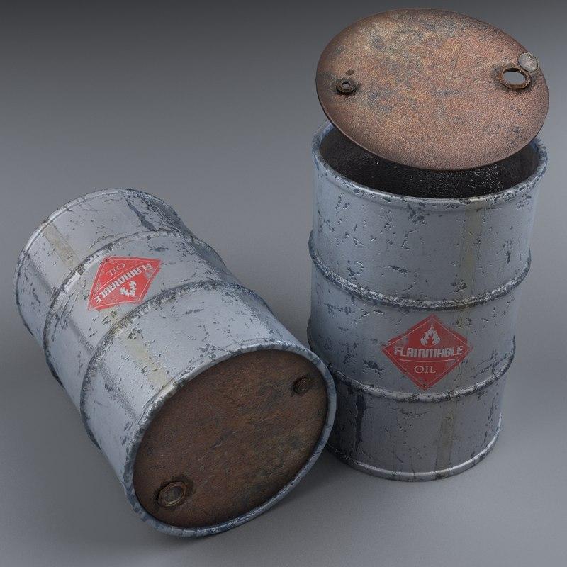 barrel modeled realistic 3D model