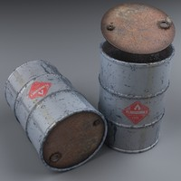 barrel modeled realistic 3D model