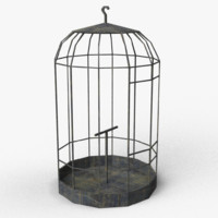 horror styled birdcage model