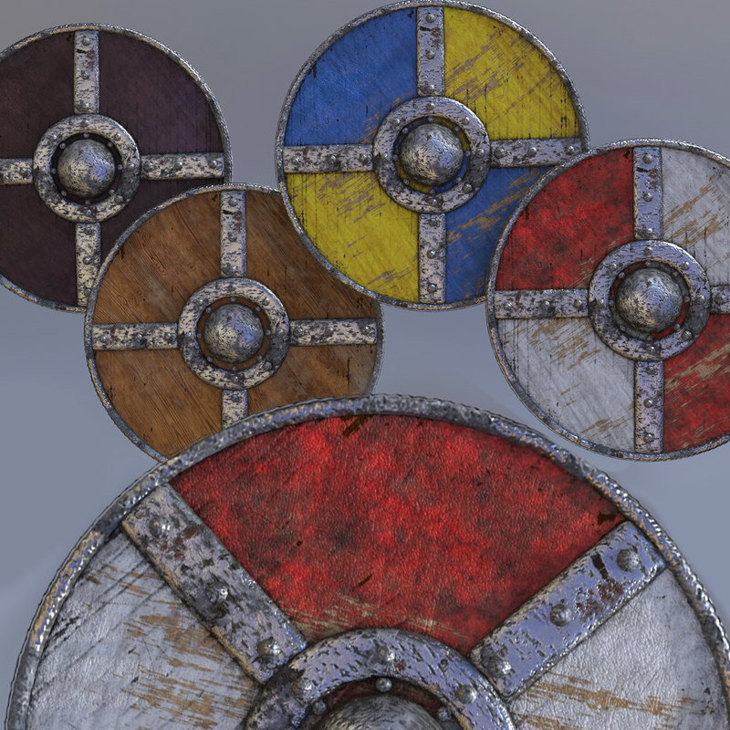 3D shields weapons model