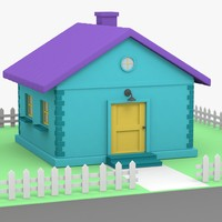 cartoon house 3D