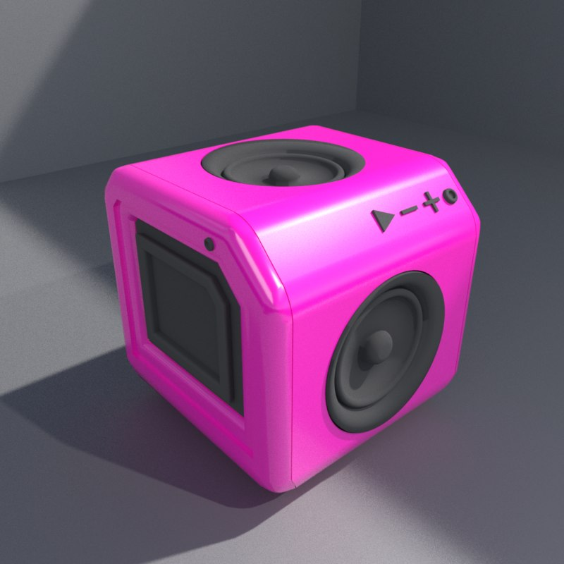 3D music cube model