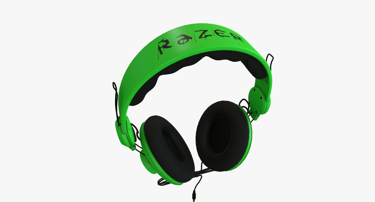 3D model razer orca headphones