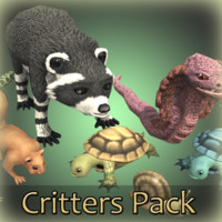 rigged animations critters 3D model