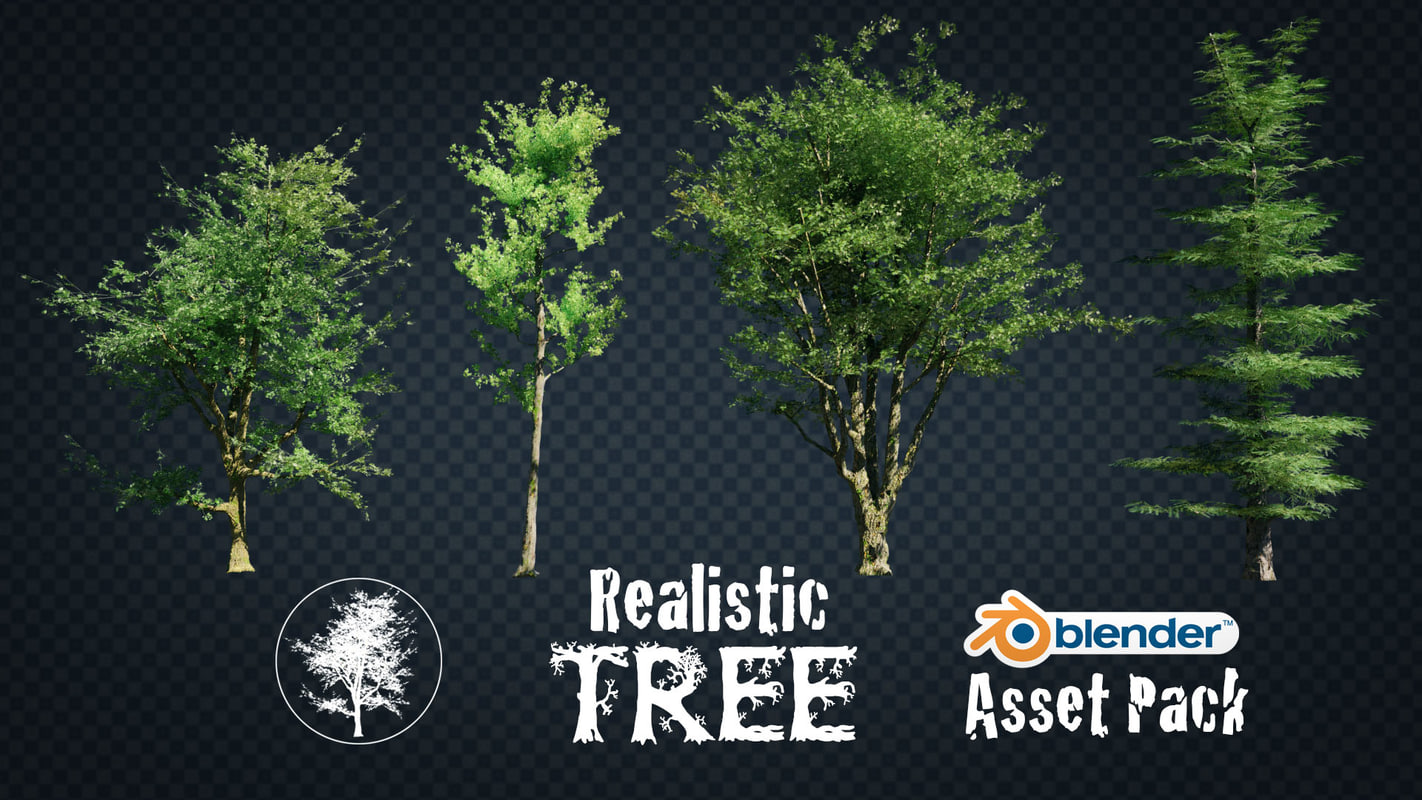 realistic trees pack model