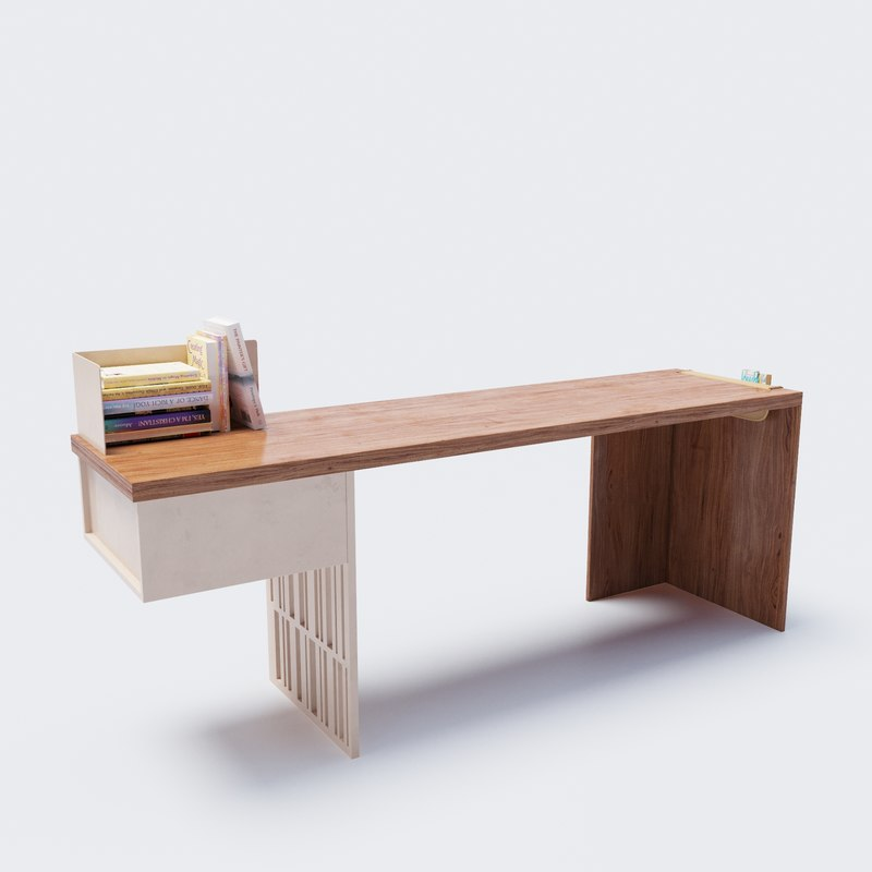 3D molteni table scriba model