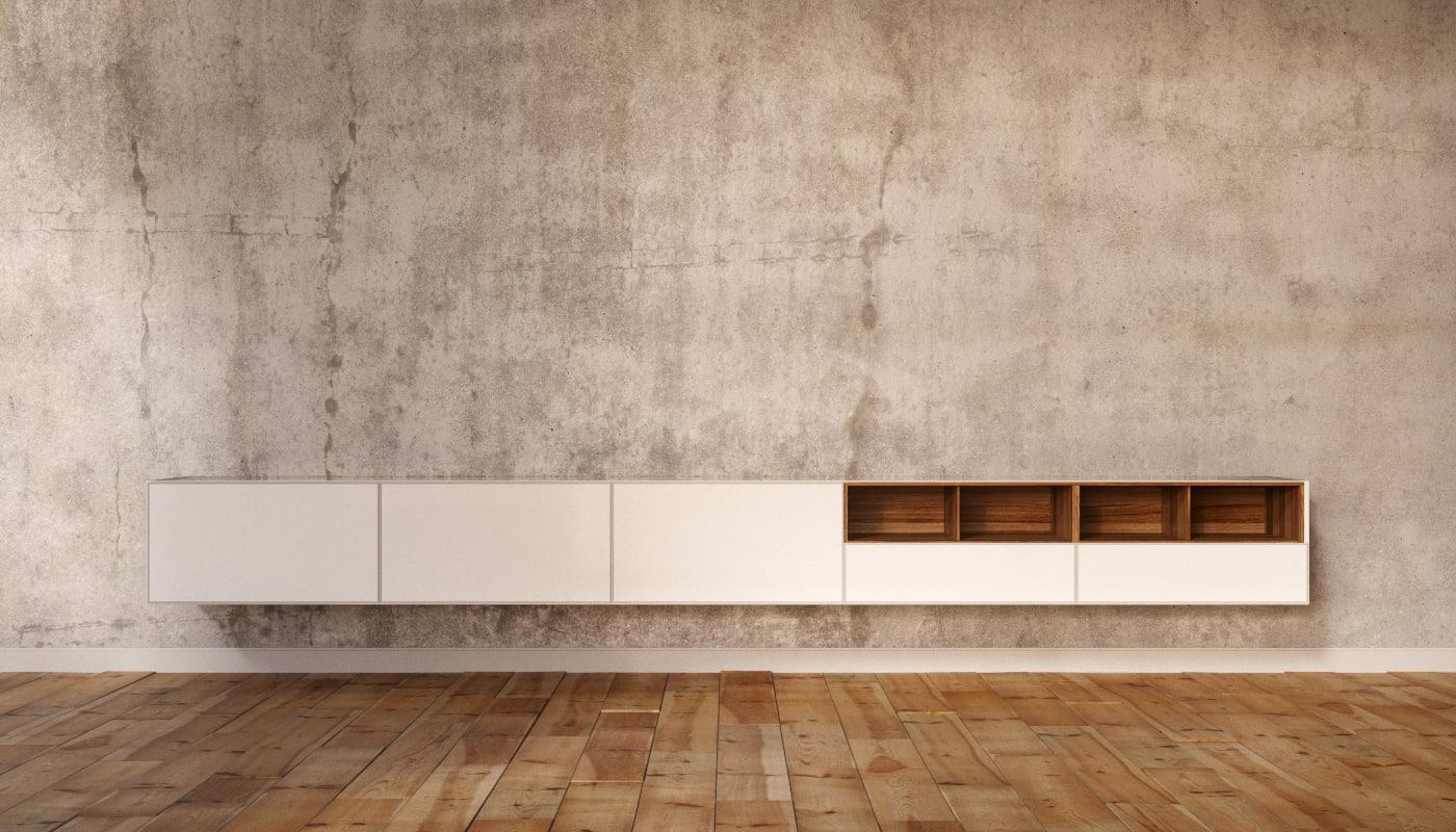 3D rimadesio living area shelf