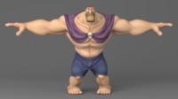 3D cartoon giant model