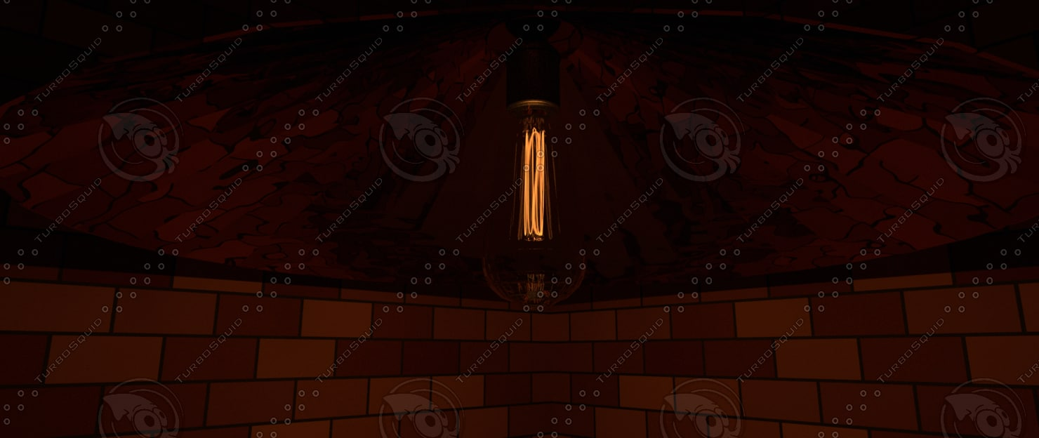 edison copper shade hanging 3D