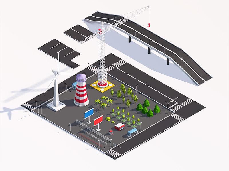 3D city elements