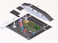Low Poly City Elements Pack
