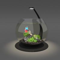 3D bowl aquarium