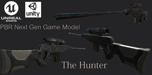- rifle scope 3D model