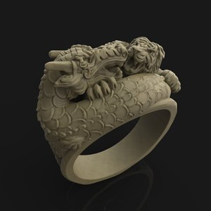 printing tiger vs dragon 3D model