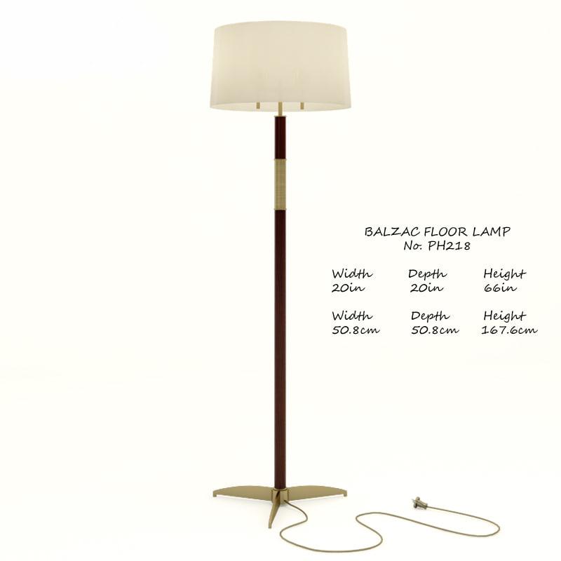 3d model baker balzac ph218 floor lamp