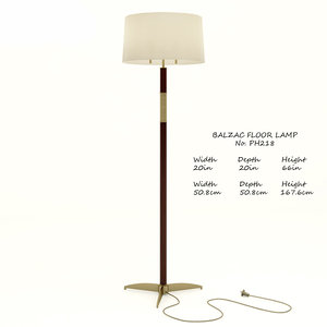 3D model baker balzac ph218 floor lamp