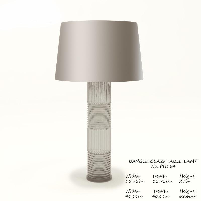 Bangle Glass Table Lamp By Thomas Pheasant Ph164 Baker