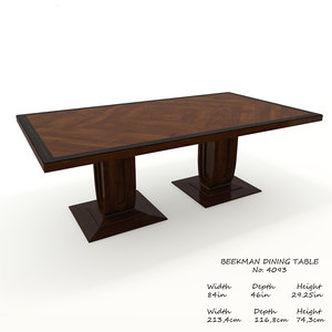 baker beekman dining table 3D model