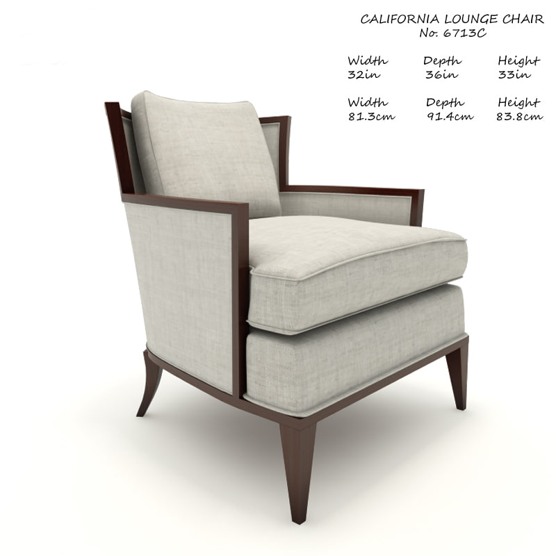3D model baker california lounge chair