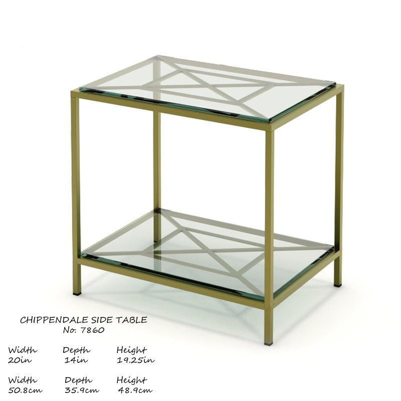 3D baker chippendale table 7860