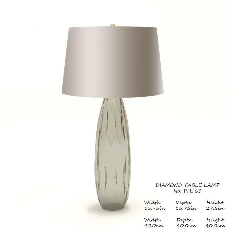 baker diamond table lamp 3D