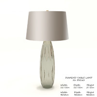 baker diamond table lamp 3D