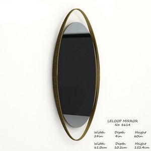 3D baker leloop mirror 8614 model