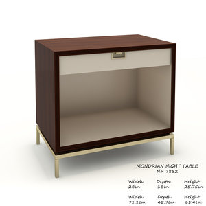 3D model baker mondrian night table