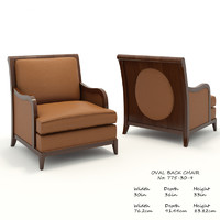 baker oval chair 775-30-9 3D model