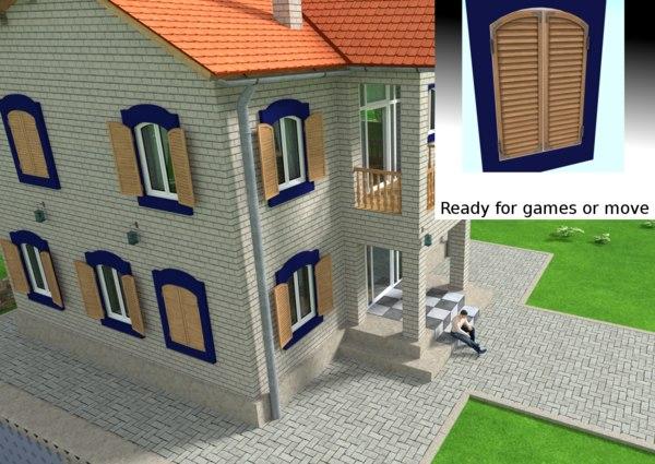 3D window shutters