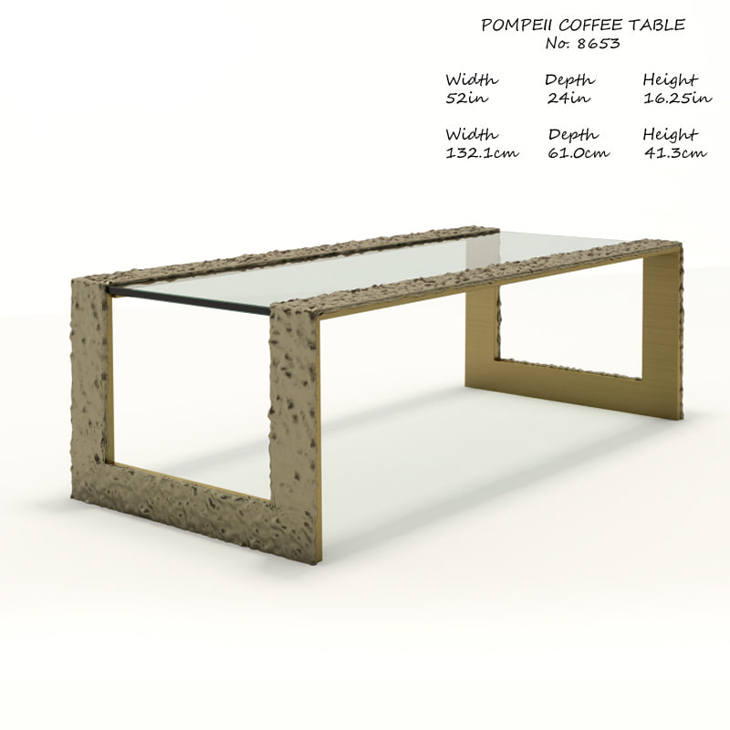 Baker Pompeii Coffee Table D Model TurboSquid - Coffee table depth